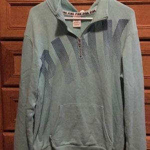 PINK quarter zip sweatshirt